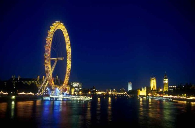 London Eye and Westminster at Queen's Golden Jubilee
