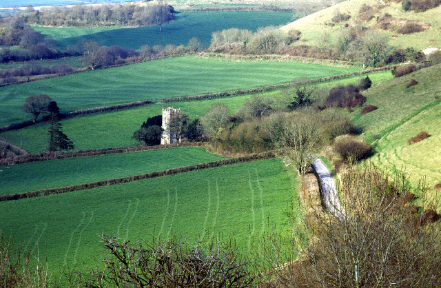 Batcombe Church from Batcombe Hill