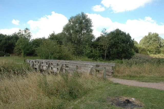 Footbridge over Sankey Brook