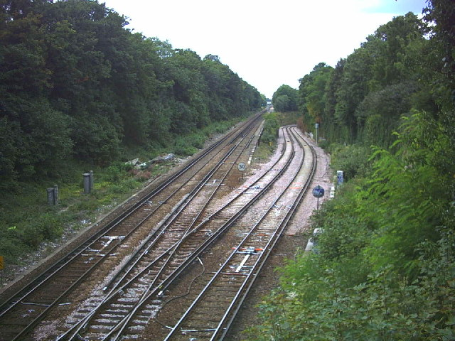 Rail Junction west of Sutton Station.