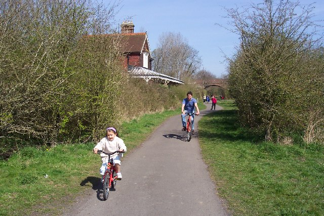 The Cuckoo Trail cycle path near Hellingly
