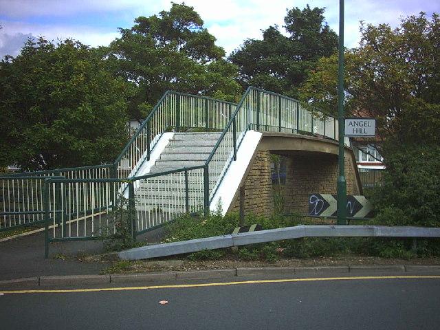 Footbridge over B2230.