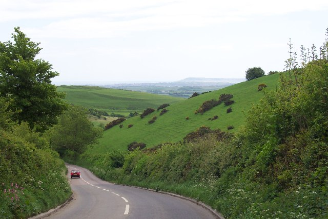 Portesham hill looking south towards the coast