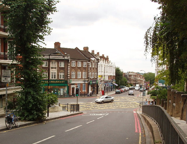 West End Lane junction with Finchley Road, Hampstead