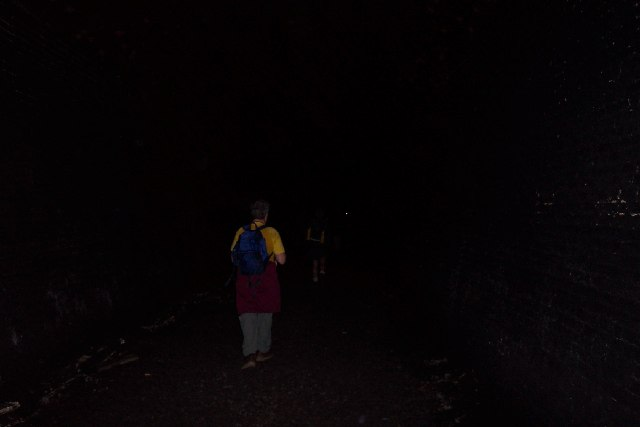 Inside Combe Down tunnel, near Bath