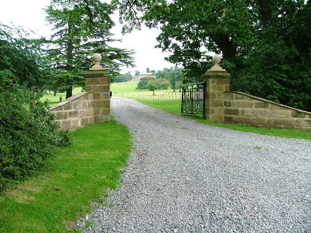 Gated Entrance to Busby Hall