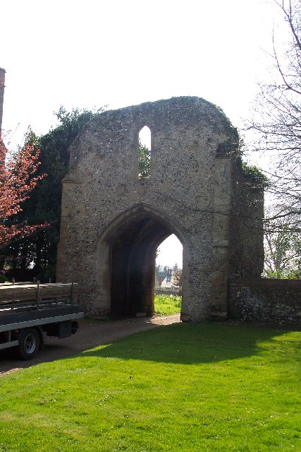 The priory gatehouse, West Acre, Norfolk