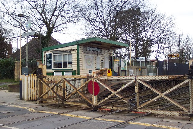 Level crossing and railway station at Littlehaven, near Horsham, West Sussex