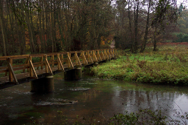 Footbridge and ford at Tankersford