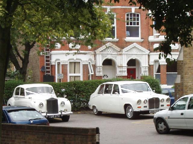 Wedding cars at Church of the Sacred Heart, Kilburn