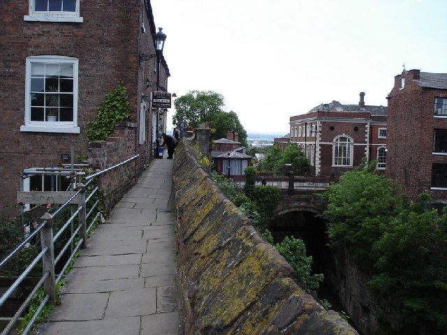 North section of city wall, Chester