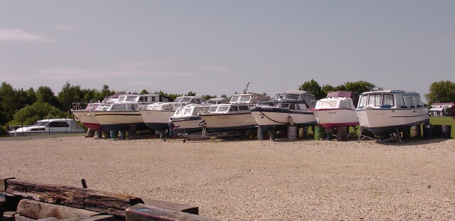 Boat Yard at Wyre Piddle
