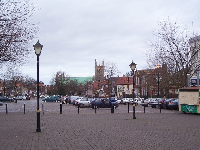 St Nicholas Church and market place, Great Yarmouth
