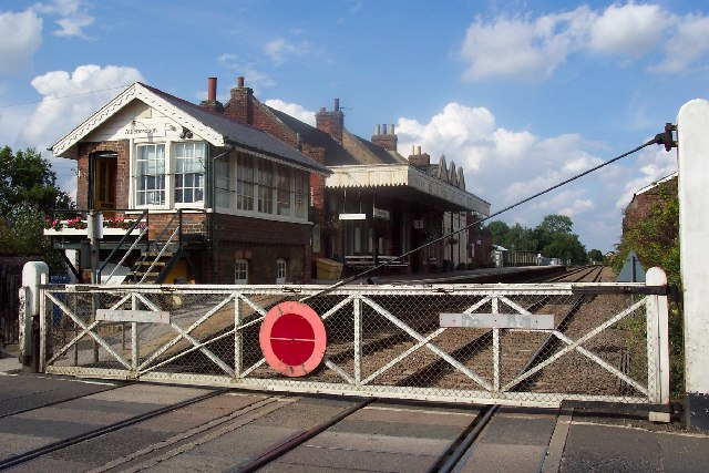 The level crossing and station, Attleborough, Norfolk