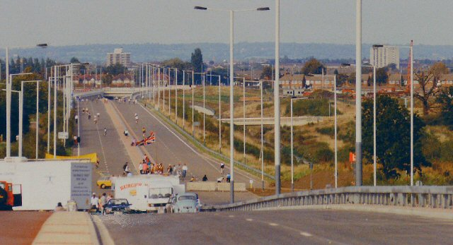 Hayes Bypass (A312) just prior to opening. Hayes, Middlesex