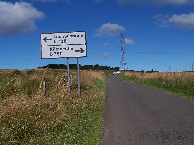 Howwood road junction