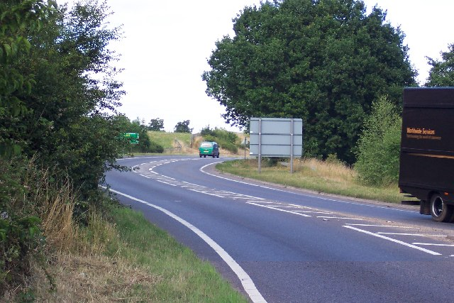 The A143 at Redenhall