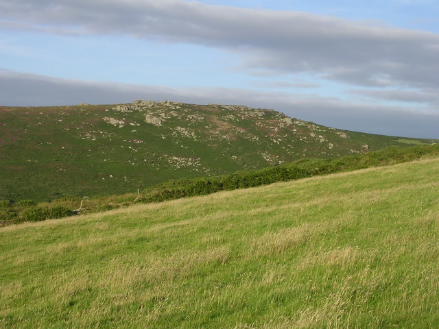 View from Trewey Hill towards Zennor Hill