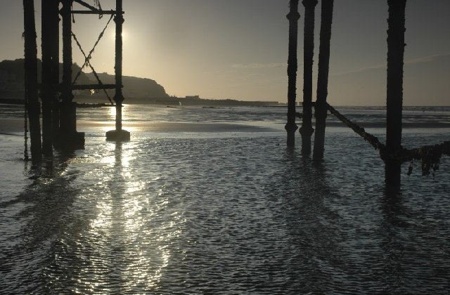 Beneath Hastings Pier