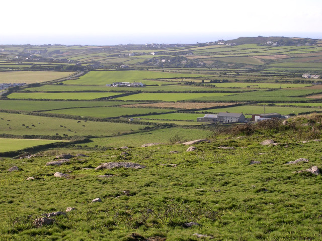 View northwest from Carn Brea, Penwith