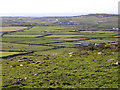SW3828 : View northwest from Carn Brea, Penwith by Jim Champion