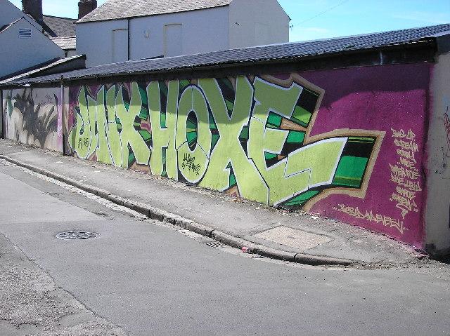 Graffiti mural. Cardiff