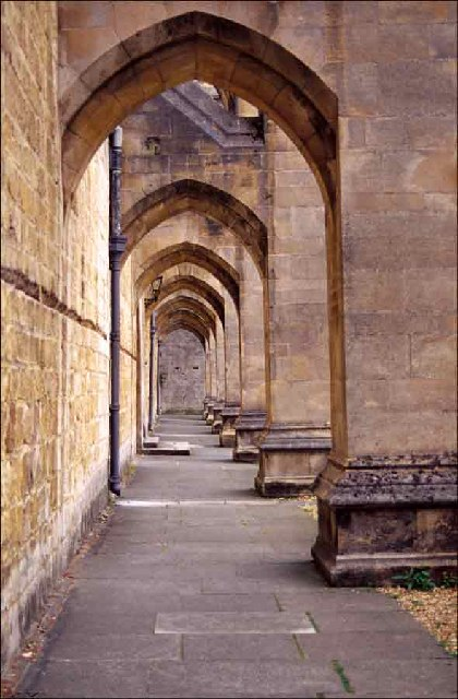 Path under Buttresses, Winchester Cathedral