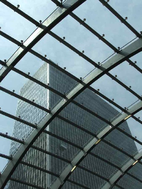 View from Canary Wharf Station.