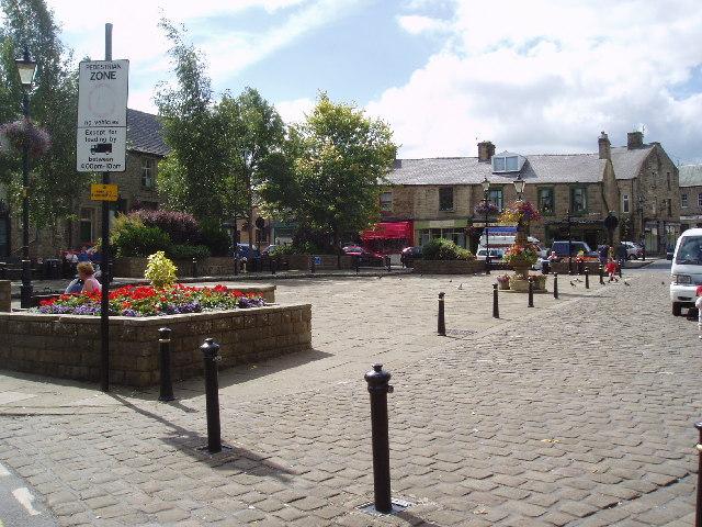 Town Square, Barnoldswick, Yorkshire