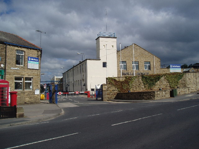 Entrance to Rolls-Royce, Barnoldswick, Yorkshire