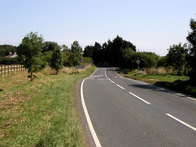 The western approach to Weeton