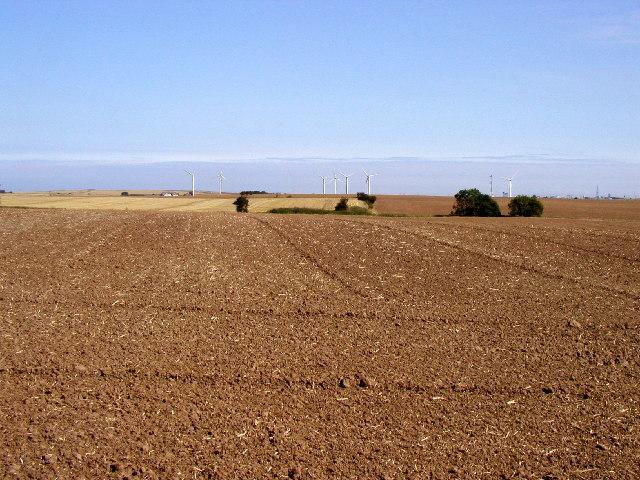 Distant wind farm
