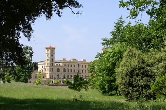 Osborne House from the long track to the swiss cottage