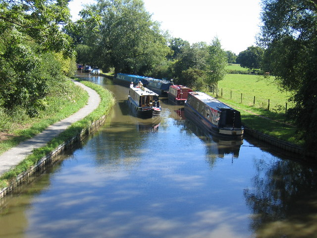 The Stratford-upon-Avon canal.