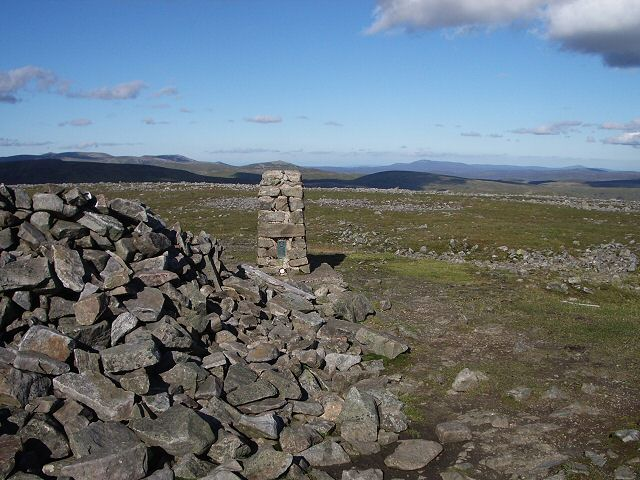 Glas Maol trig point and shelter