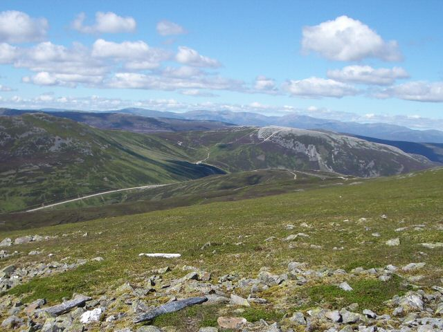 Western slopes of Glas Maol