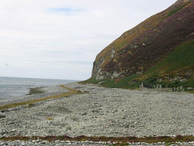 Beach, Ailsa Craig