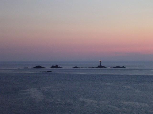 Longships Lighthouse at dusk
