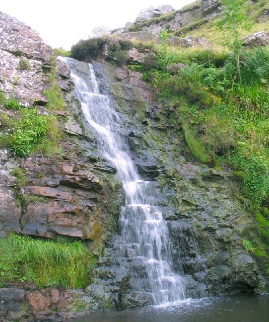 Waterfall on the river Clydach, Black Mountain
