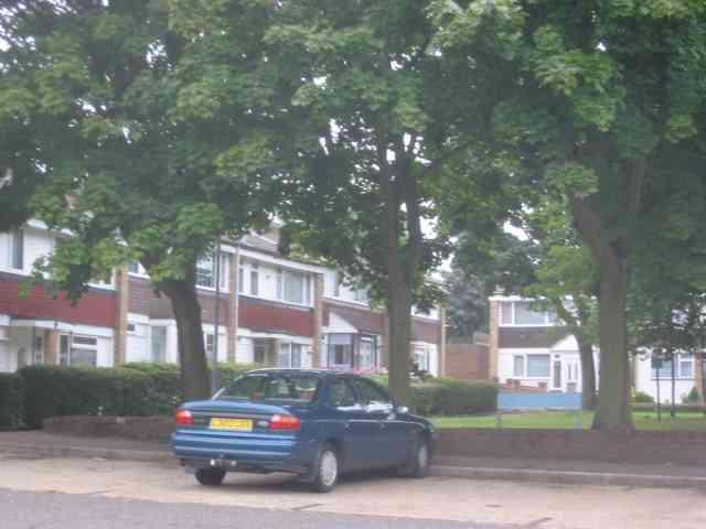 Housing facing on to a small green, Hemel Hempstead
