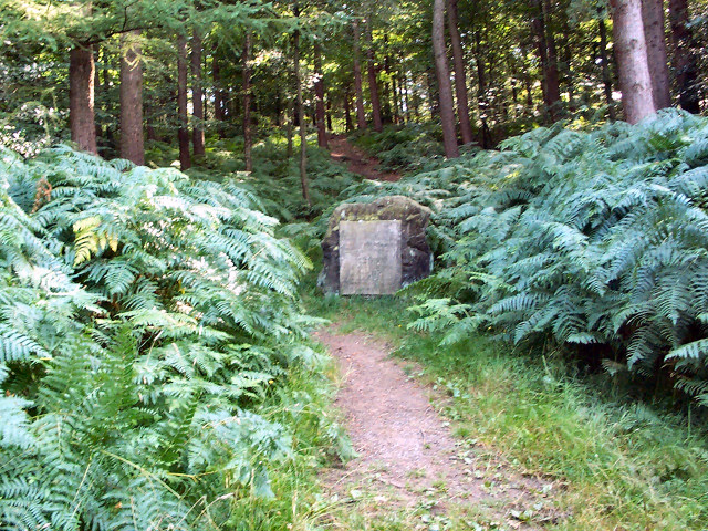 Memorial stone, Chevin Forest Park