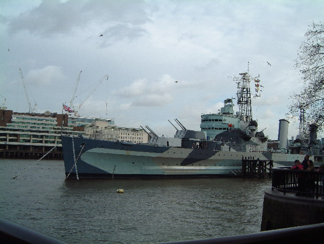 View of HMS Belfast and North Thames Bank