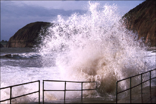 Rough Sea at Sidmouth
