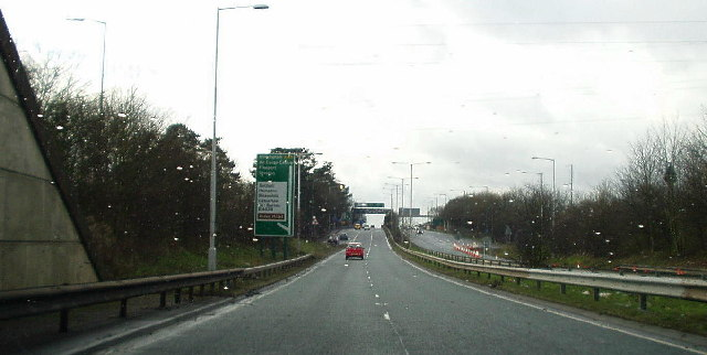 On the A45