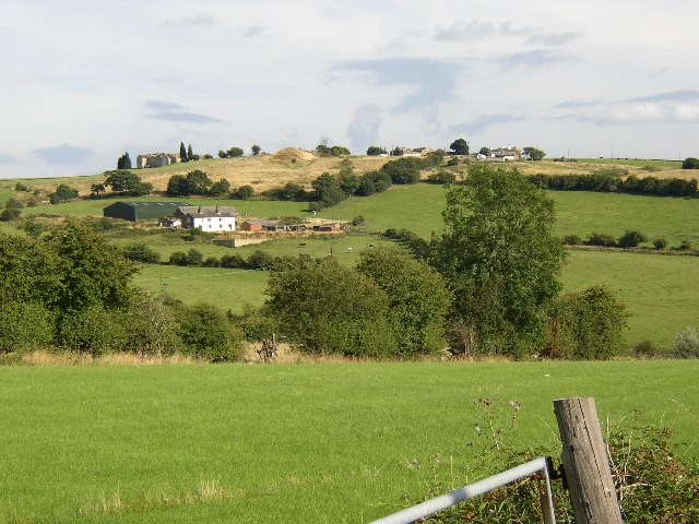 View towards Whitwood from Lower Wyke Lane, Wyke