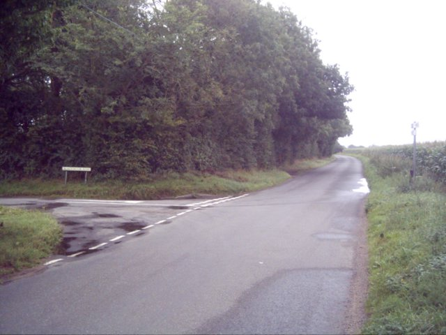 Junction of Blackmoor Lane and road from Shipdham to Cranworth