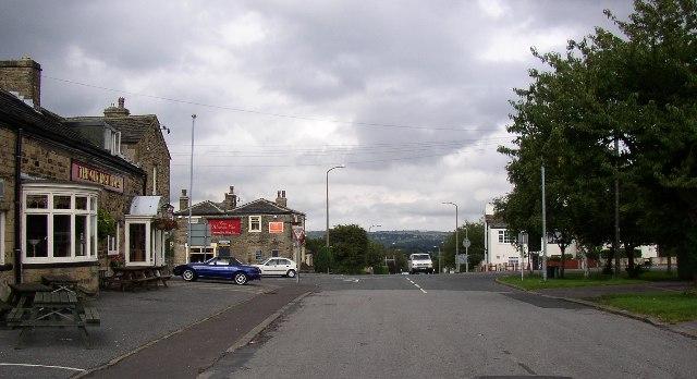 The cross-roads at Hartshead Moor, Cleckheaton