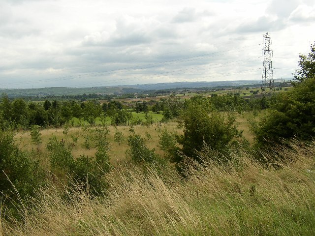 View over golf course from High Moor Lane