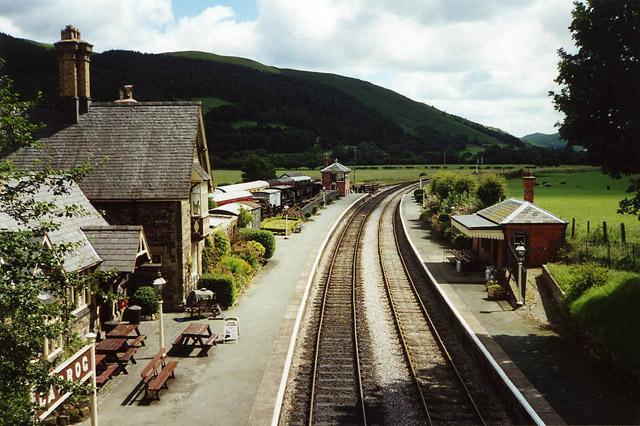 Carrog: Carrog Station on the Llangollen Railway
