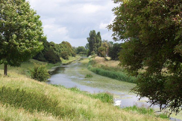 The Royal Military Canal, Romney Marsh, Kent